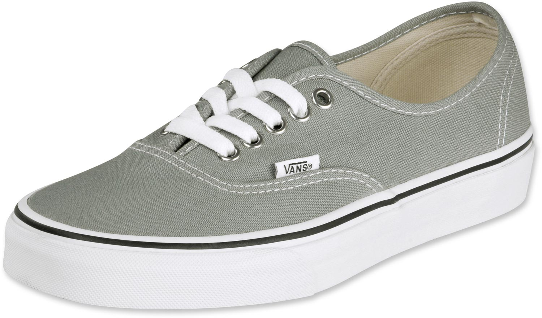 vans grises con blanco